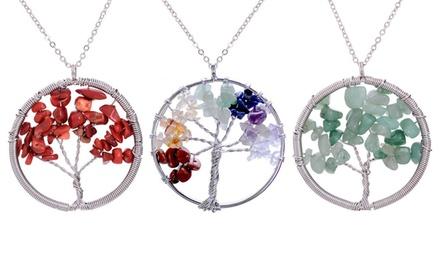 Tree of Life Halskette in der Farbe nach Wahl (55% sparen*)