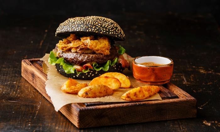 black burger nach wahl inkl beilage burger lobster village groupon. Black Bedroom Furniture Sets. Home Design Ideas
