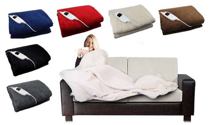 Electric-Heated Blanket in Choice of Colour from £32