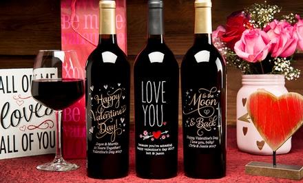 Custom Engraved Wine Bottles Miramonte Winery Groupon
