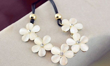 Statement Flower Choker Necklace