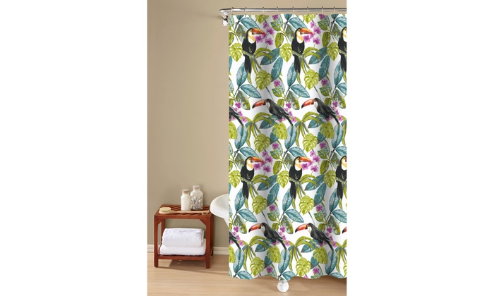 Tropical Toucans 100 Cotton Shower Curtain