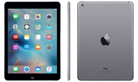 Apple iPad Air 16GB or 32GB WiFi Tablet (Refurbished A-Grade) w/ MFi-Certified Lightning Cable and Generic Power Adapter