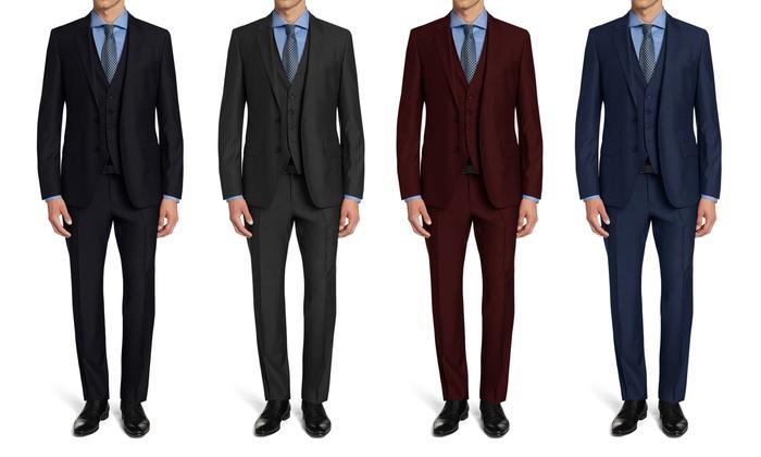 Braveman Men's Slim Fit Suits (3-Piece) | Groupon