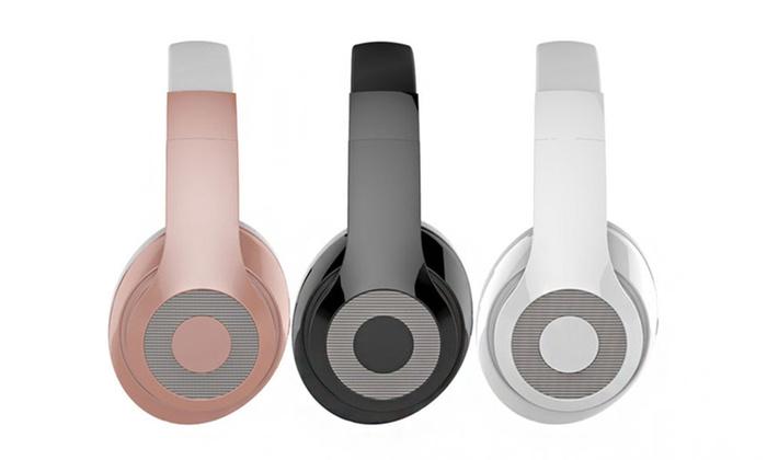 5f5e8636a9e Gabba Goods Metallix Elite Edition DJ Over-Ear Bluetooth Headphones ...