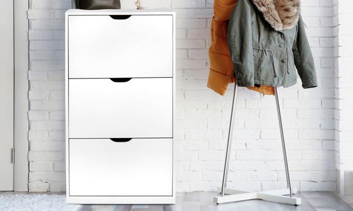 Viki White Shoe Cabinet
