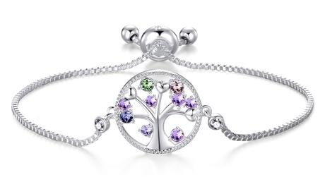 1 o 2 pulseras con árbol de la vida Philip Jones con cristales Swarovski®