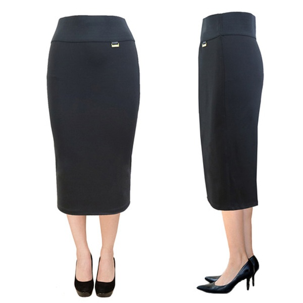 00ca8f68aa1d5 Women's Stretch Ponte-Pencil Skirt | Groupon