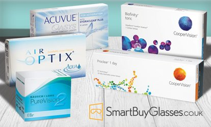 image for Online Order of <strong>Contact Lenses</strong> from SmartBuyGlasses.com (50% Off)
