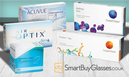 £30 Toward an Online Order of Contact Lenses at SmartBuyGlasses (50% Off)