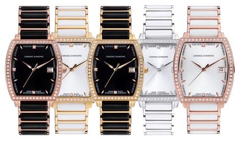 In der Schweiz hergestellte Damen-Armbanduhr Leandra mit Diamanten in der Farbe nach Wahl