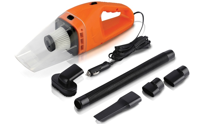 portable 120w car vacuum cleaner groupon. Black Bedroom Furniture Sets. Home Design Ideas