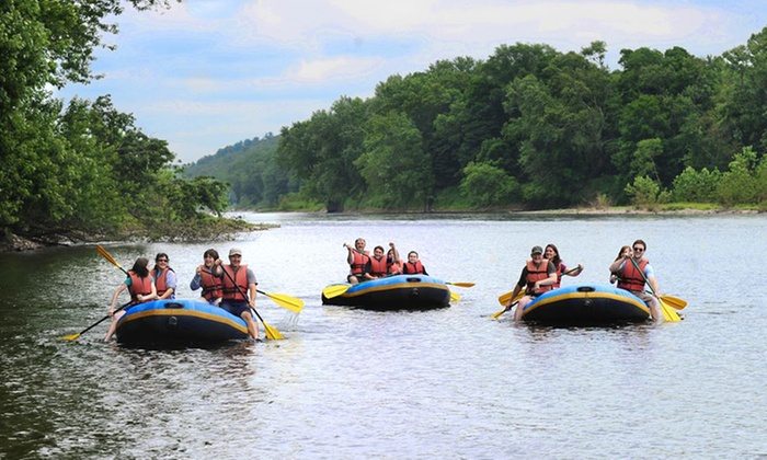 Edge of the Woods Outfitters - Delaware Water Gap: Delaware River Trips on a Canoe or Raft for Two or Four from Edge of the Woods Outfitters (Up to 49% Off)