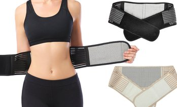 Self-Heating Lower Back Support