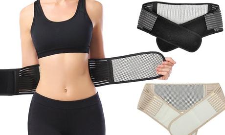 Selbstwärmender Gürtel gegen Rückenschmerzen in Schwarz oder Beige und in der Größe nach Wahl