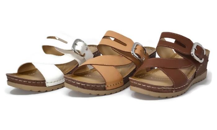 Mata Women's Slip-On Buckle Sandals
