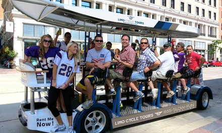 Two-Hour Pub-Crawl Tour for Up to 15 from Limo Cycle Tours (Up to 54% Off). Two Options Available.