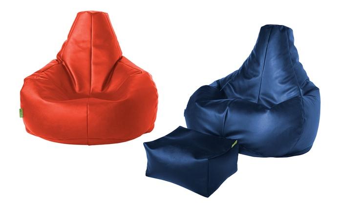 Faux Leather Bean Bag Chair ...