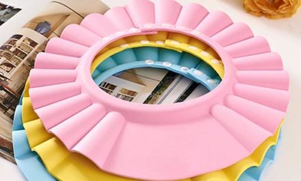 1x oder 2x Einstellbare Kinder-Duschhaube in Blau, Gelb oder Pink (4,99 €)