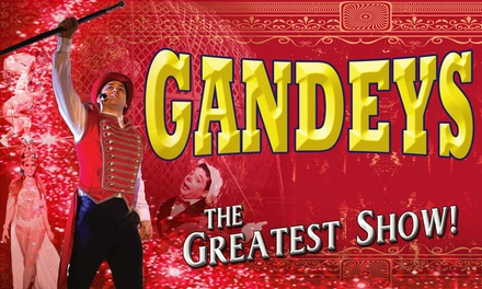 Gandeys Thrill Circus, Side View Ticket, 22 30 March, Two Locations