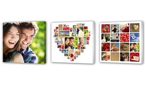 PhotobookShop: Personalisierbarer Leinwand-Fotodruck 20 x 20 cm, 30 x 30 cm oder 20 x 30 cm von PhotobookShop (bis zu 64% sparen*)