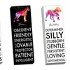 "12""x36"" Watercolor Doggy Words on Gallery-Wrapped Canvas"