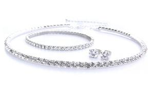 Parure de bijoux ornée de cristaux Swarovski®