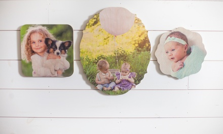 Wooden Shaped Photo Boards from PhotoBarn (Up to 88% Off). Eight Sizes Available.