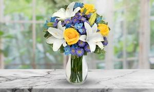 Winter Flower Bouquet with Vase