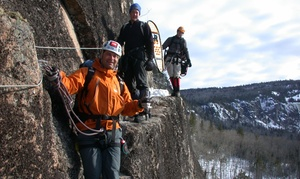 Aventurex: Via Ferrata Winter Excursion in Charlevoix for One, Two or Four with Aventurex (Up to 55% Off)