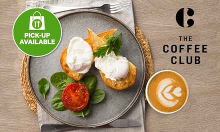 $6.80 for Eggs and Tomato on Toast with Large Coffee at The Coffee Club, Multiple Locations (Up to $16.90 Value)