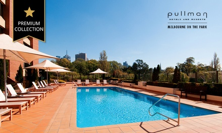 Melbourne:  Upscale Hotel Escape with Car Parking, Wi-Fi, and Late Check-Out at Pullman Melbourne On The Park