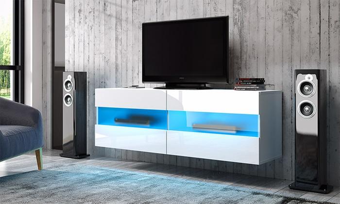 h ngender tv schrank mit led groupon goods. Black Bedroom Furniture Sets. Home Design Ideas