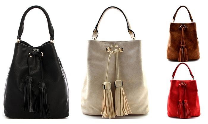 Up To 58 Off Monogramed Tassel Handbags From Kabolillie