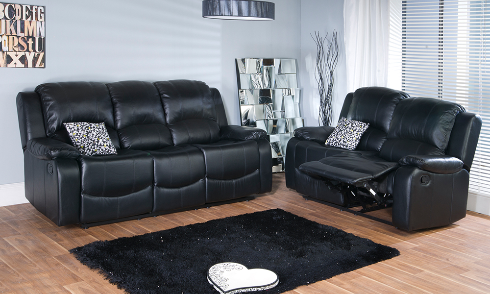 Two And Three Seater Leather Sofa Groupon Goods