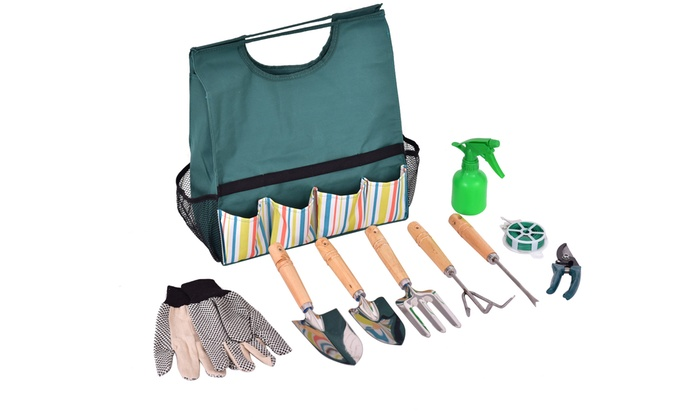 Garden tool bag groupon goods for Gardening 4 less groupon