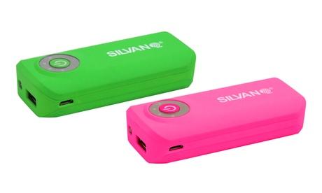 Cargador portátil Powerbank de 5600mAh de color verde o rosa con linterna Oferta en Groupon