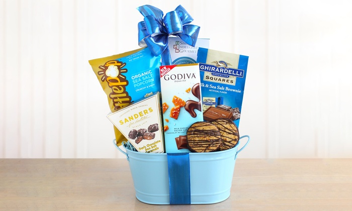 Sweets and Treats Holiday Gift Baskets with Godiva, Ghirardelli & More