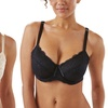 Sociology Microfiber and Lace Underwire Bras in C-E Cups (2-Pack)
