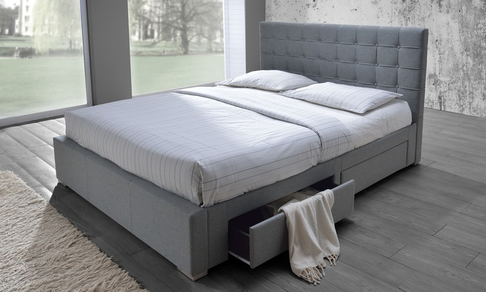 Modern Upholstered Storage Bed Groupon Goods
