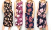 Acting Pro Floral Pocket Sleeveless Midi Dress. Plus Sizes Available.