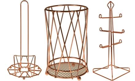Copper Kitchen Accessory Storage