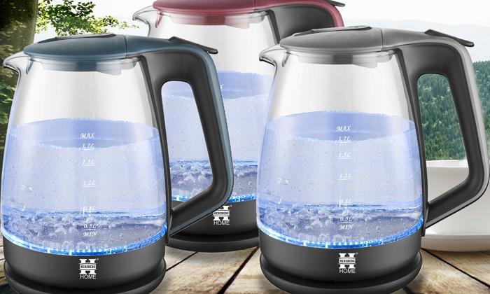 Glazen waterkoker van herzberg met led verlichting for Waterkoker led verlichting