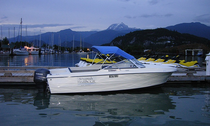 Squamish Harbour Boat Rentals - Redemption: One-Hour 60- or 70-Horsepower Hourston Glascraft Rental from Squamish Harbour Boat Rentals (Up to 54% Off)
