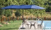 Twin 15' x 9' Rectangular Market Umbrella