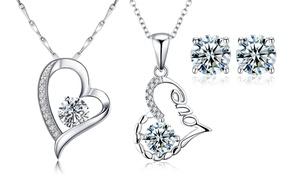 (Bijou) Set de bijoux  en argent sterling -86% réduction