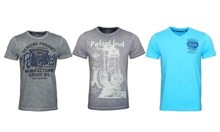 Petrol Industries Herren-T-Shirt in dem Modell und der Farbe nach Wahl (Statt: 79,99 € Jetzt: 13,01 €)