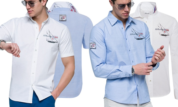Nebulus Hemd Zadar oder Havanna in Weiß oder Blau  (77% sparen*)