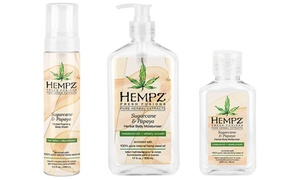 Hempz Fresh Fusions Sugarcane Papaya Summer Bath and Body Collection
