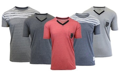 Men's Marled Crew Neck and V-Neck Tees